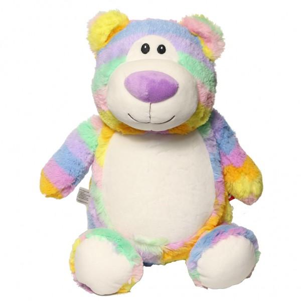 Bear Cubbie Rainbow Pastel