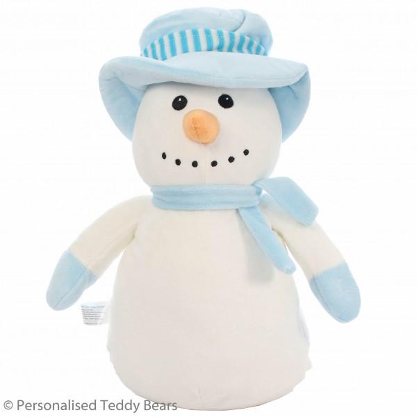Christmas Snowman Blue