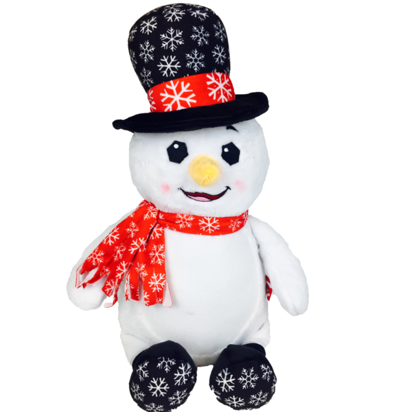 Christmas Snowman Black Hat