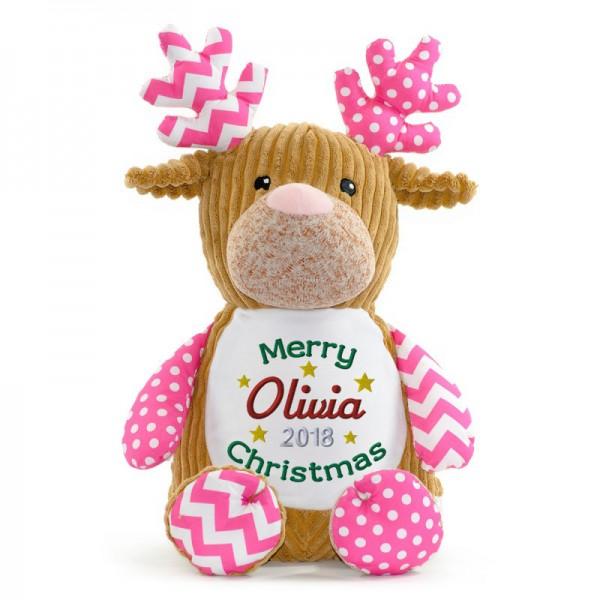 Christmas Reindeer Pink