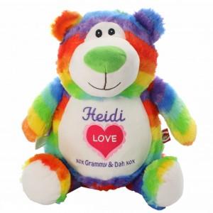 Bear Cubbie Rainbow