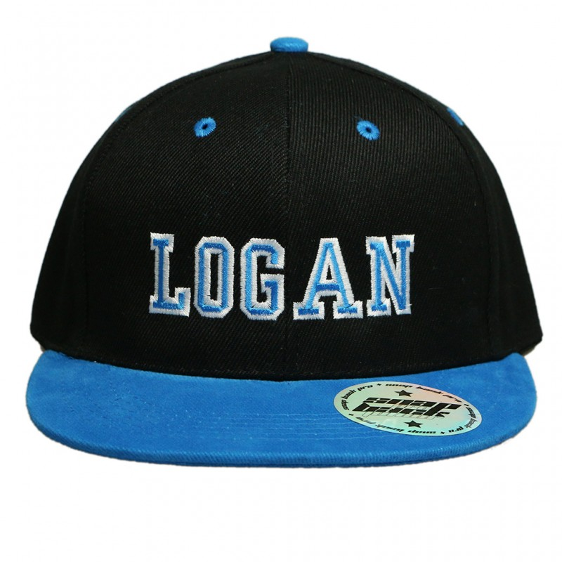 Custom Kids Snapback. Black   Cyan Hat 44971a714a2