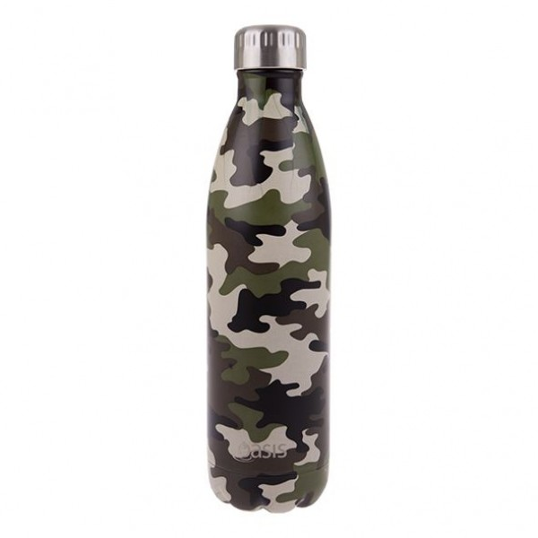 Personalised Drink Bottle Camo Green 750ml