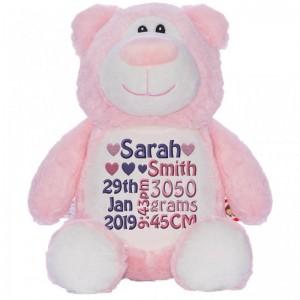 Bear Cubbie Pink